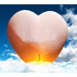 Небесный фонарик (сердце) Белый