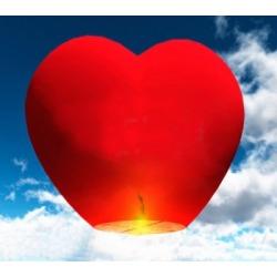 Небесный фонарик (сердце) Красный