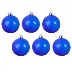 Шарики 6шт,6см,блест-синие